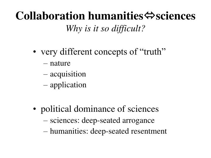 Collaboration humanities