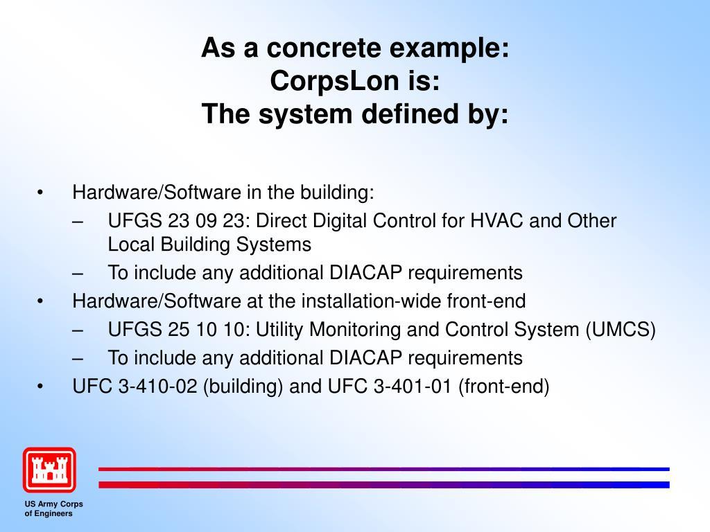 As a concrete example: