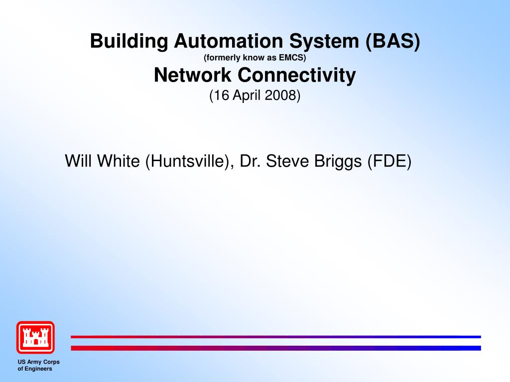 building automation system bas formerly know as emcs network connectivity 16 april 2008