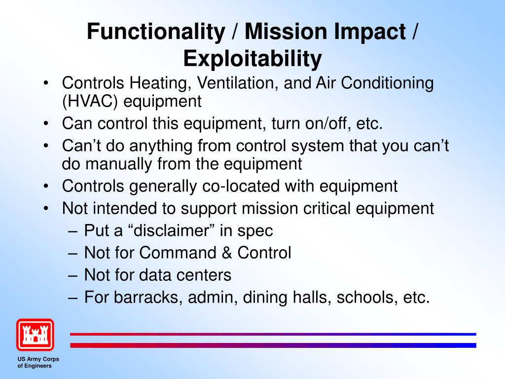Functionality / Mission Impact / Exploitability
