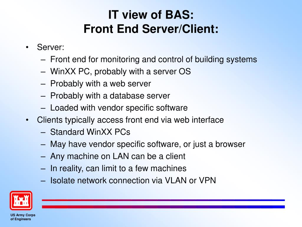 IT view of BAS: