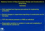 statutory control of deep excavation design and construction in hong kong16