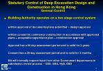 statutory control of deep excavation design and construction in hong kong6
