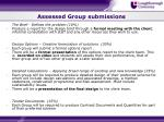 assessed group submissions