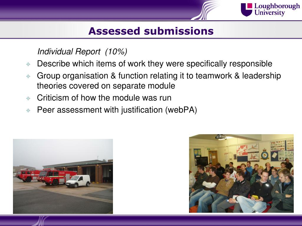 Assessed submissions