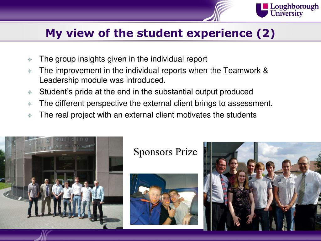 My view of the student experience (2)