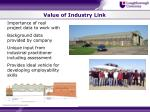value of industry link