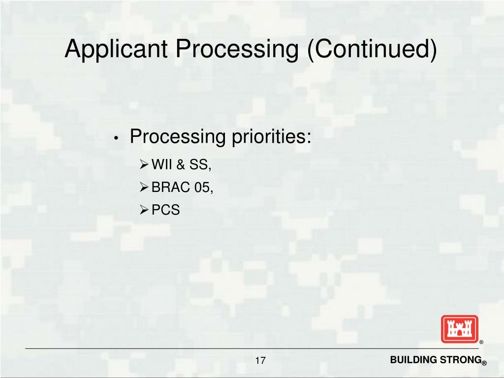 Applicant Processing (Continued)