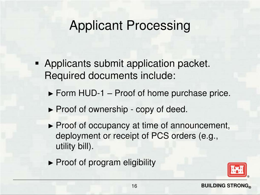 Applicant Processing