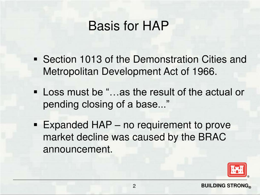 Basis for HAP