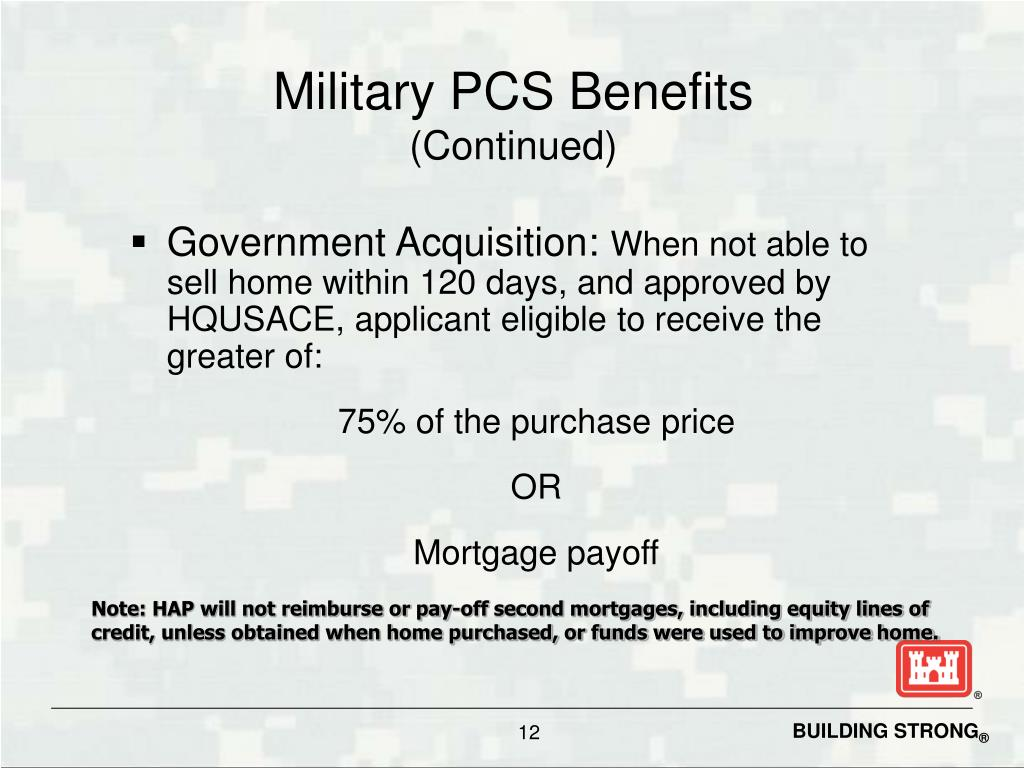 Military PCS Benefits