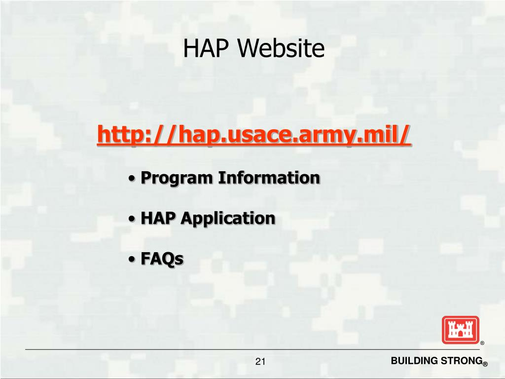 HAP Website