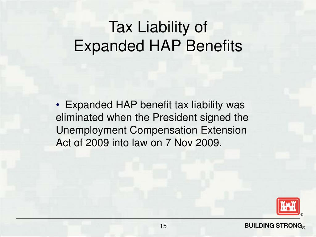 Tax Liability of
