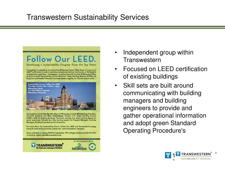 Transwestern Sustainability Services