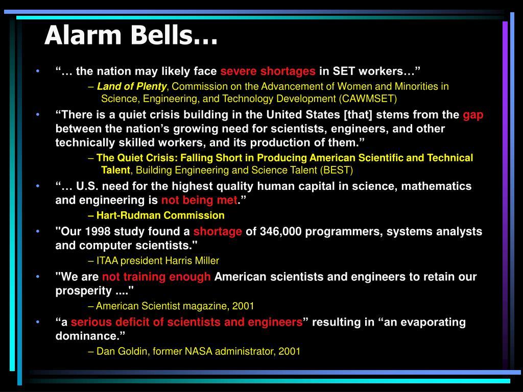 Alarm Bells…