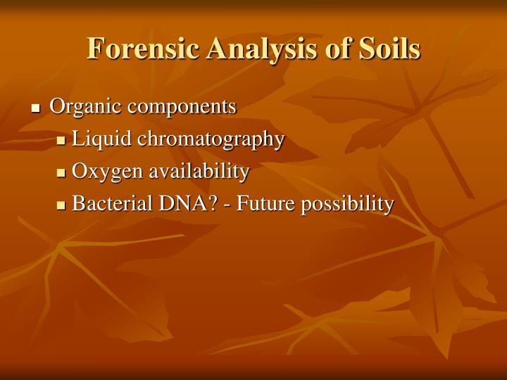 Forensic Analysis of Soils