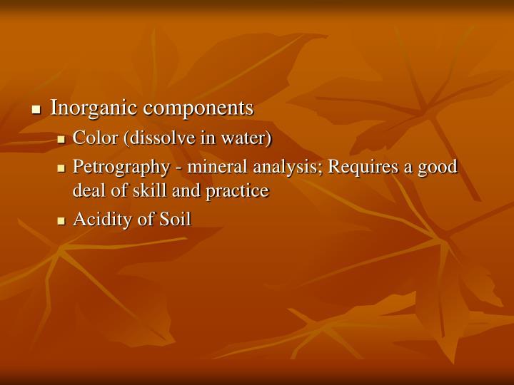 Inorganic components