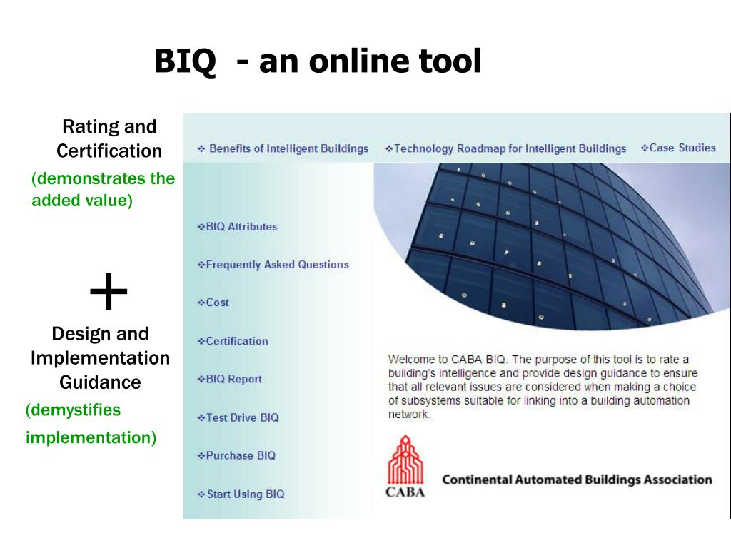 BIQ  - an online tool