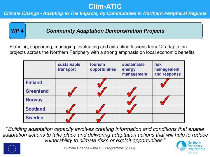 Community Adaptation Demonstration Projects