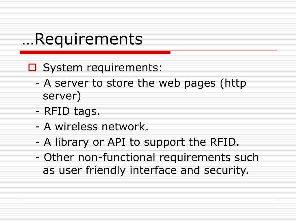 …Requirements