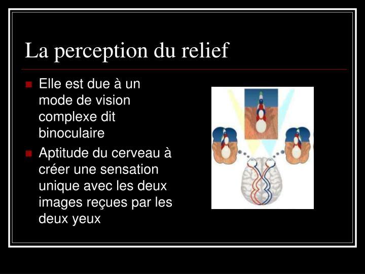 La perception du relief