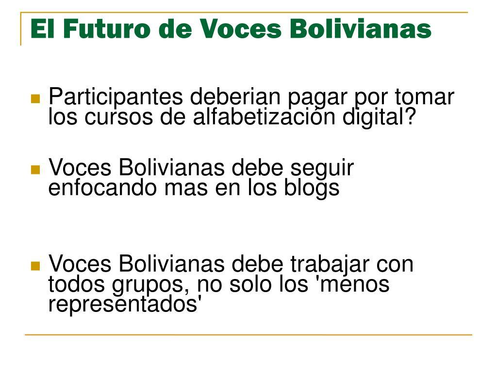 El Futuro de Voces Bolivianas