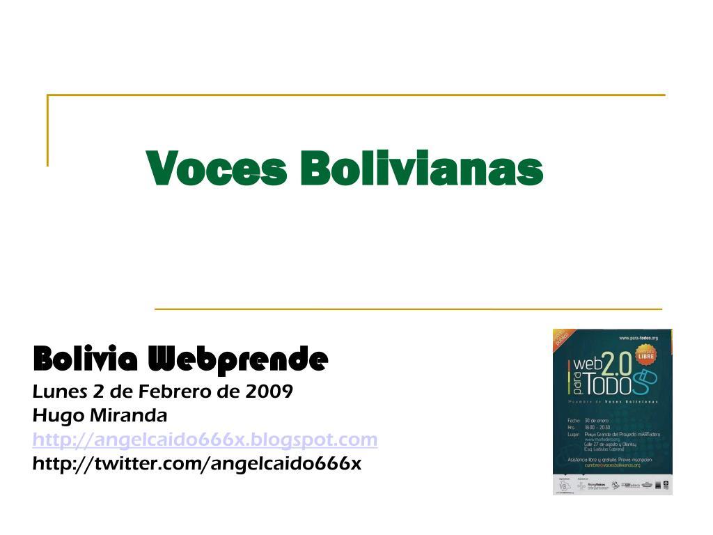 Bolivia Webprende