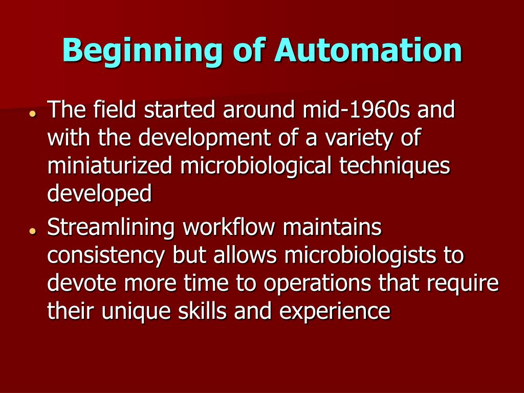 Beginning of Automation