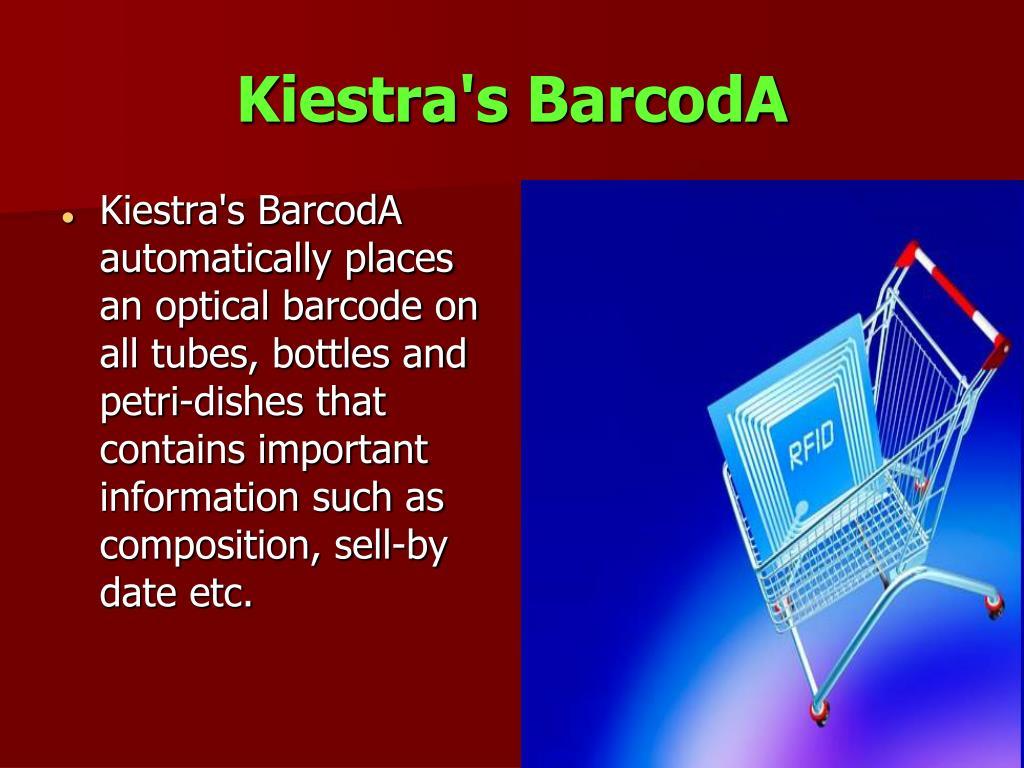 Kiestra's BarcodA