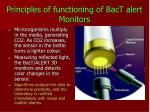 principles of functioning of bact alert monitors