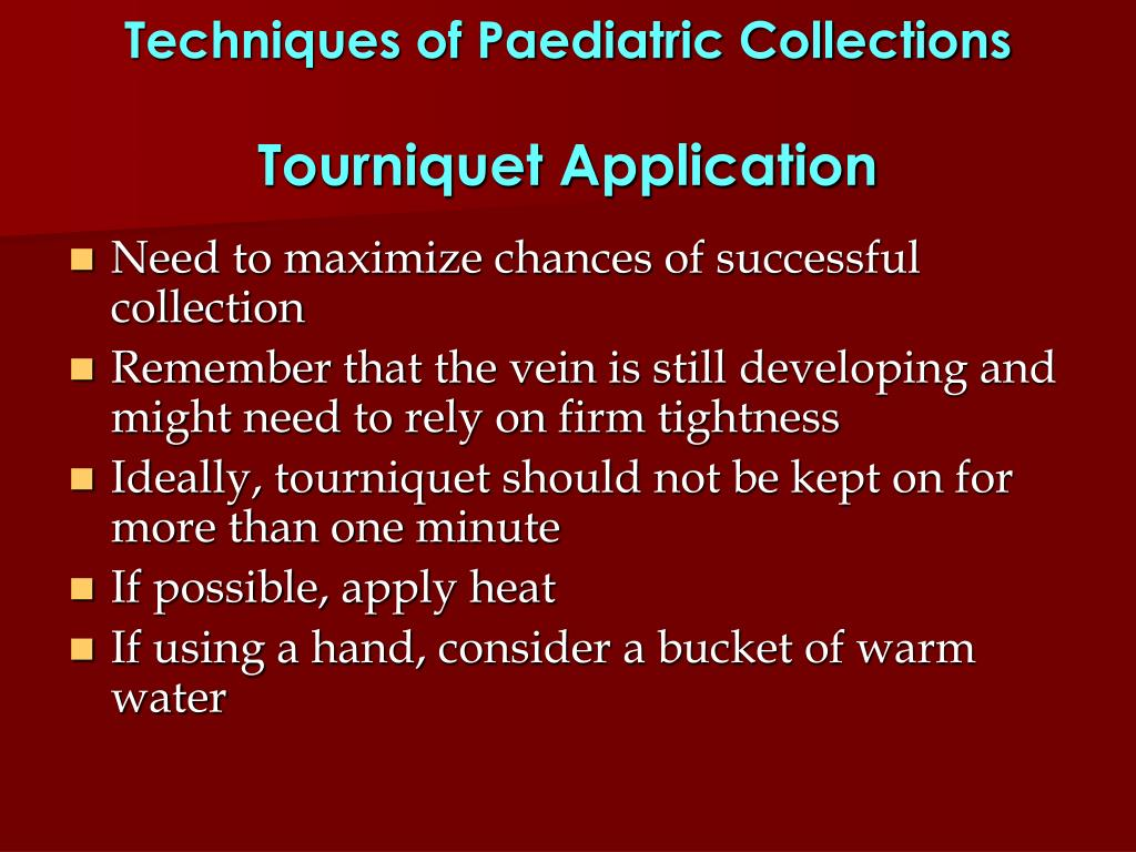 Techniques of Paediatric Collections