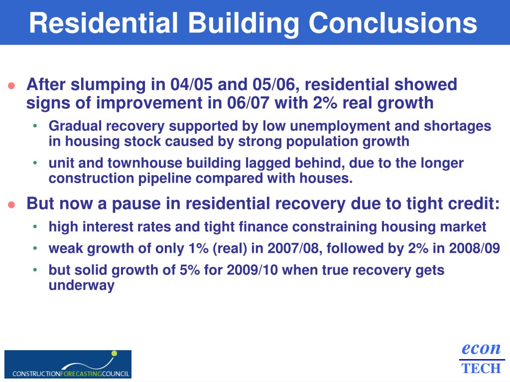 Residential Building Conclusions