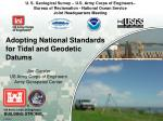 adopting national standards for tidal and geodetic datums