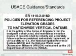 usace guidance standards