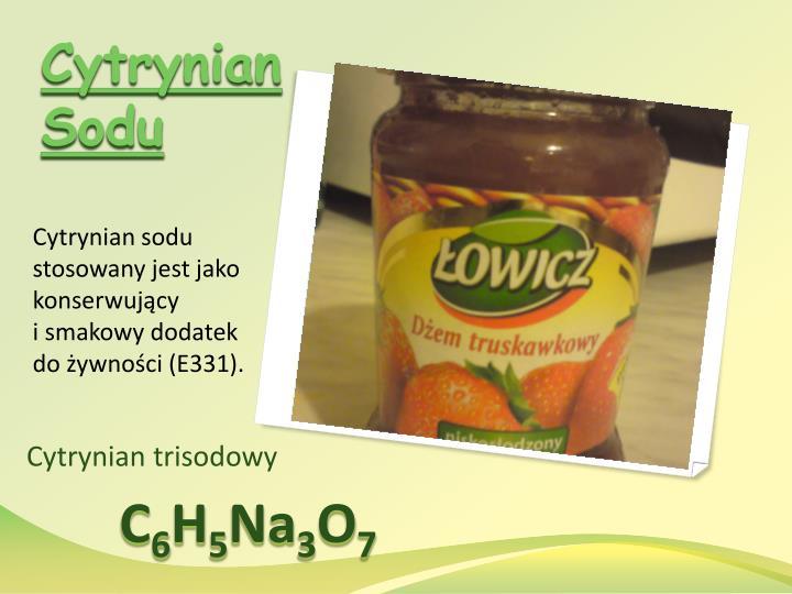 Cytrynian Sodu
