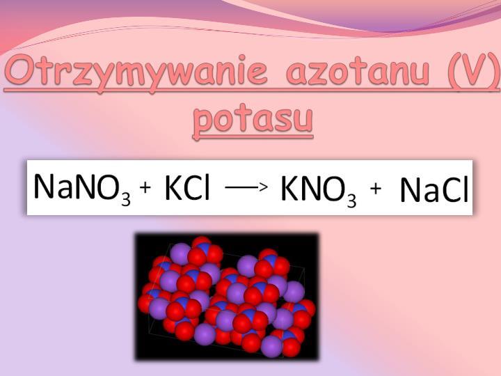Otrzymywanie azotanu (V) potasu