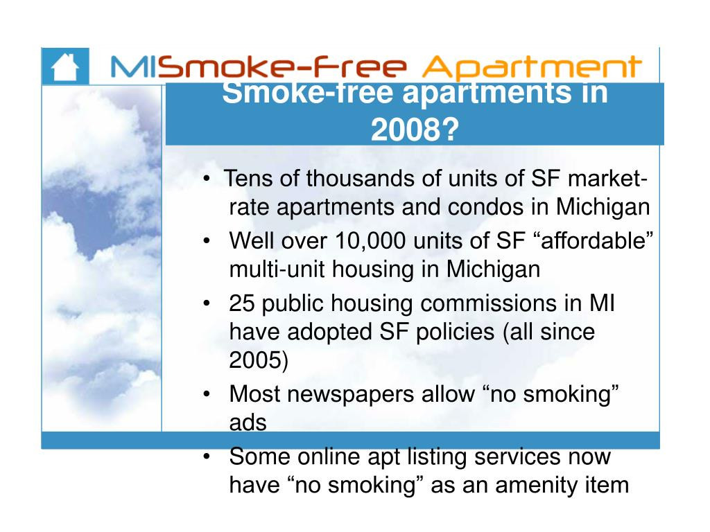 Smoke-free apartments in 2008?