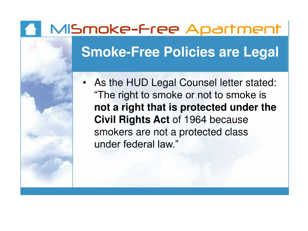 Smoke-Free Policies are Legal