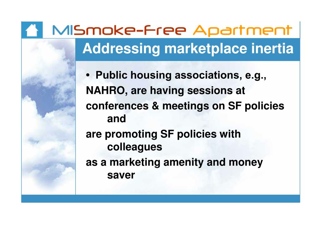 Addressing marketplace inertia