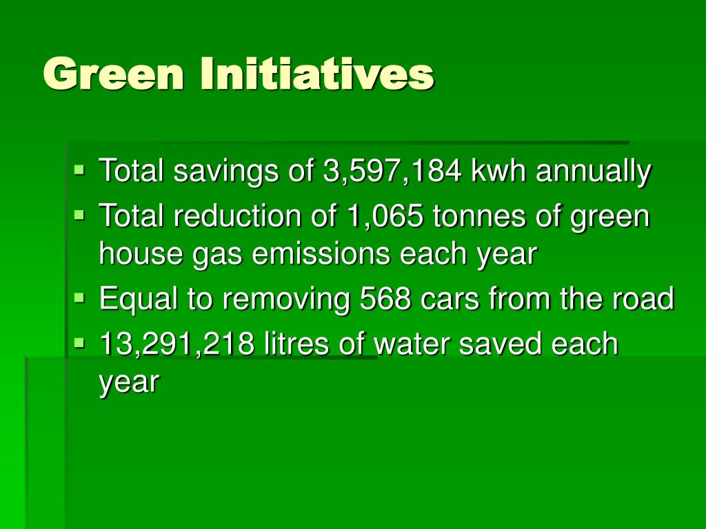 Green Initiatives