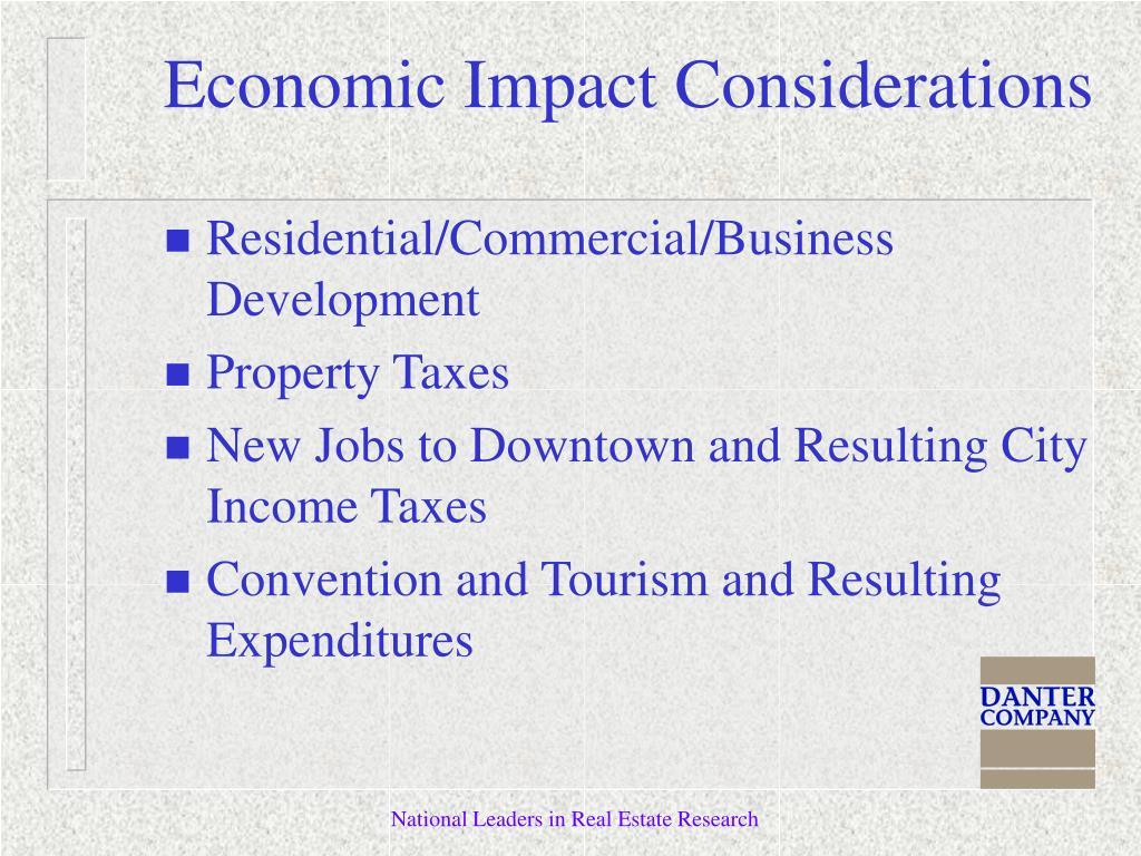 Economic Impact Considerations