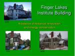 finger lakes institute building