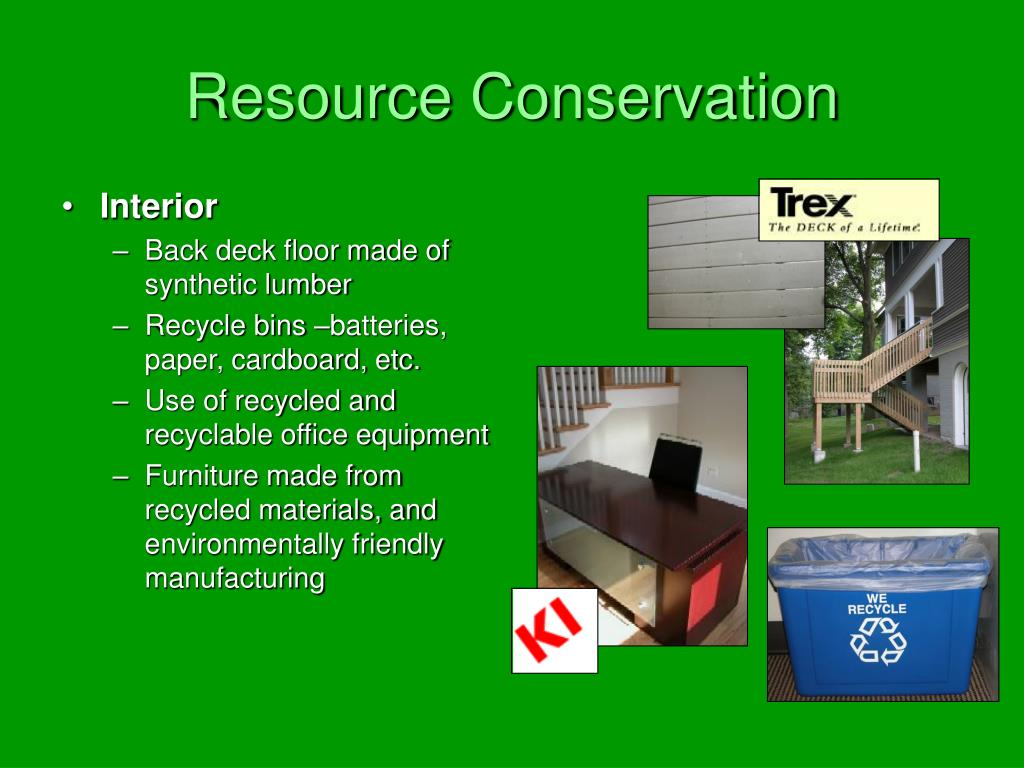 Resource Conservation