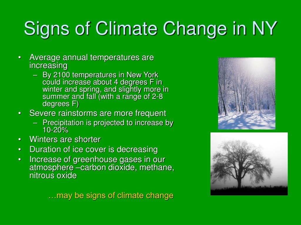 Signs of Climate Change in NY