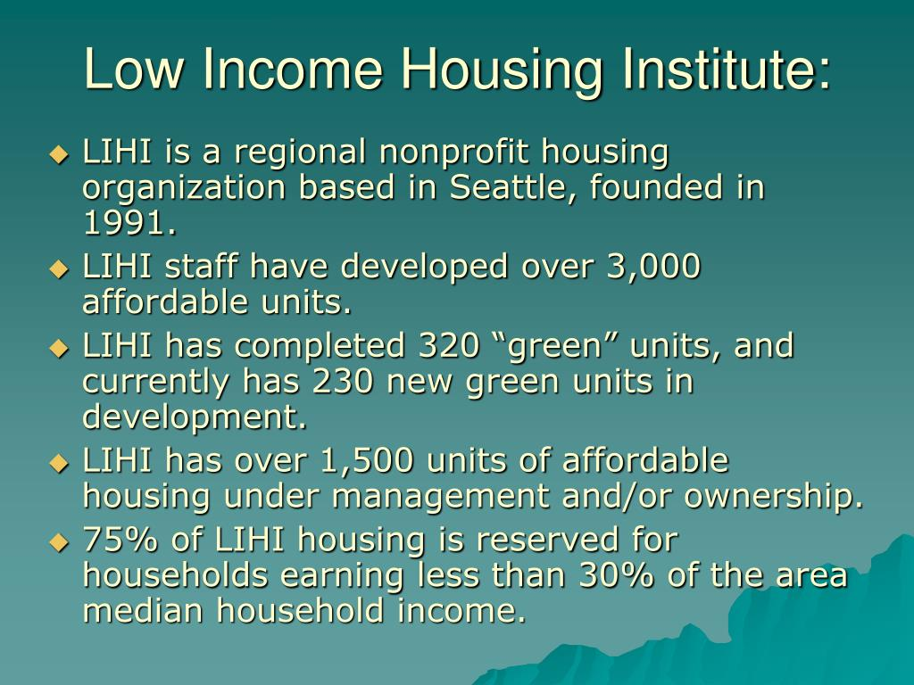Low Income Housing Institute: