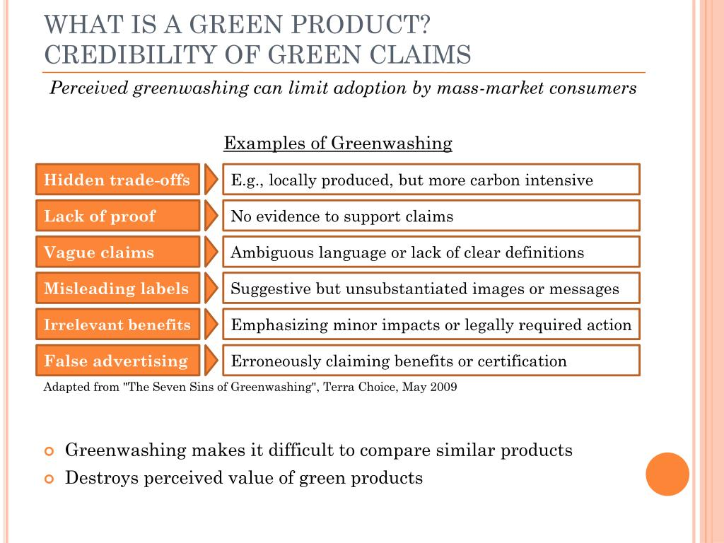 WHAT IS A GREEN PRODUCT?