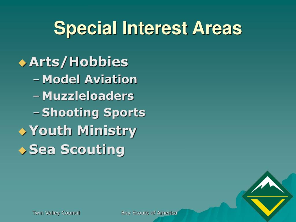 Special Interest Areas
