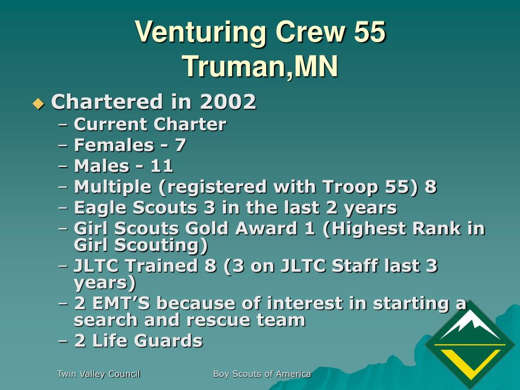 Venturing Crew 55