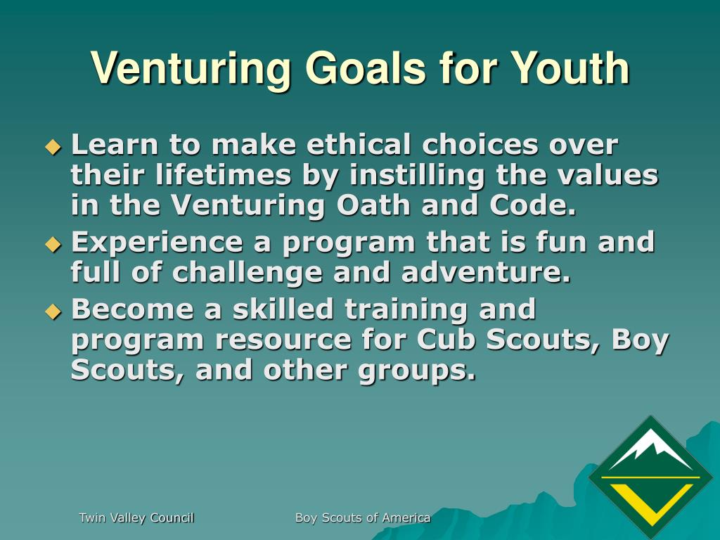 Venturing Goals for Youth