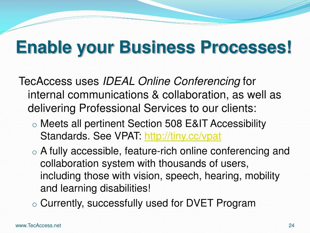 Enable your Business Processes!